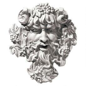ギリシャ神話 酒の神 バッカス 壁掛け ウォール アート 彫刻 ホーム インテリア エクステリア 屋外 庭 ガーデン 飾り 石像 オブジェ
