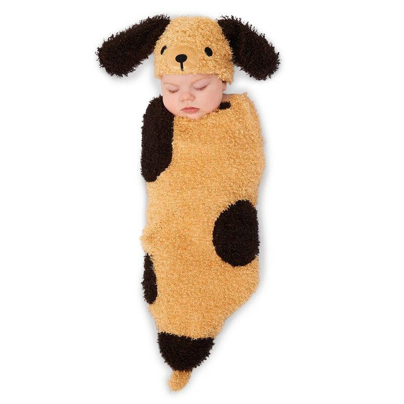 赤ちゃん おくるみ 子犬 戌年 年賀状 ベビー コスプレ 仮装 コスチューム 着ぐるみ