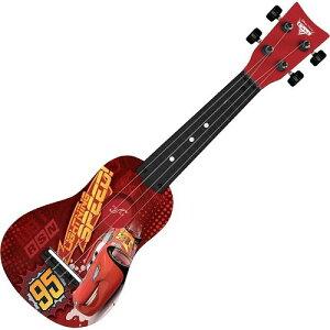 カーズ3 ディズニー ピクサー ライトニング・マックィーン ミニ ギター ウクレレ 4弦 子供 楽器 おもちゃ