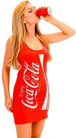 コカコーラ コスチューム ノースリーブ タンクトップ ドレス 赤 レディース 女性
