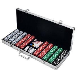 カジノ ポーカー チップ セット キャリーケース付 携帯 持ち運び ポータブル 出張カジノ