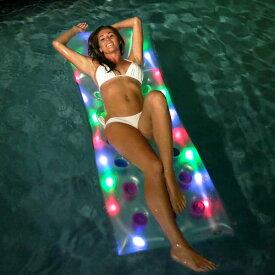 ナイトプール 光る フロート LED ライトアップ うきわ 浮き具 通常便は送料無料