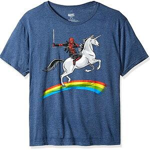 デッドプール Tシャツ レインボー ユニコーン マーベル メンズ 通常便は送料無料