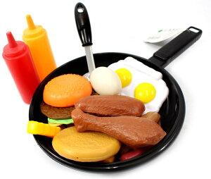 フライパン 小道具 食べ物 セット 料理 ままごと おもちゃ 子供 ごっこ遊び なりきり シェフ