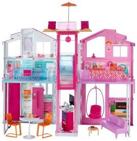 バービー タウンハウス ピンクパスポート 人形 家 おもちゃ クリスマス プレゼント 誕生日 ギフト ドールハウス