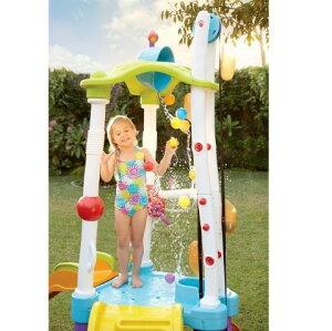プール すべり台 家庭用 水遊び リトルタイクス タワー 子供基地 滑り台 水鉄砲