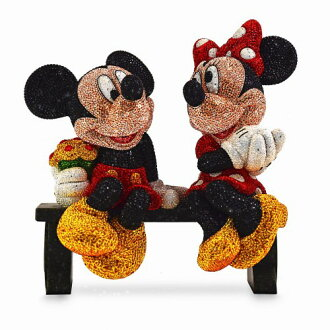 62c3c8957d7060 acomes  Mickey Mouse  amp  Minnie Mouse limited edition figure skating  interior decoration Swarovski stone