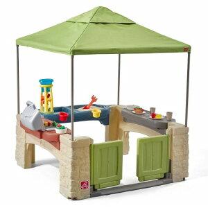 水遊び 砂遊び 大型 遊具 ステップ2 キャノピー付き オールラウンド プレイタイム パティオ 子供 野外 屋外 家庭 車いす