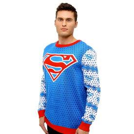 スーパーマン アグリー セーター コスチューム 衣装 アグリーセーター ダサい クリスマス ハロウィン イベント パーティー DCコミックス 大人 メンズ