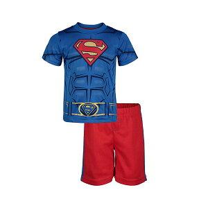 スーパーマン Tシャツ & メッシュ ショーツ セット バットマン&スーパーマン 子供 アスレチック パフォーマンス