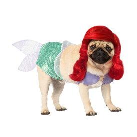 犬 服 アリエル コスプレ ペット 衣装 ドッグ コスチューム かつら付き