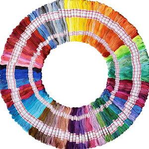 刺繍 キット 240 刺繍糸 ししゅう 針 竹 枠 キット クロスステッチ ハンドメイド 自宅 糸 ミサンガ 海外 おしゃれ お得