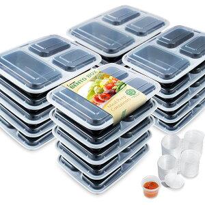 テイクアウト 容器 弁当箱 ソース 調味料 ミニカップ 付き 20セット お持ち帰り用 パック 使い捨て おかず ご飯 お惣菜 通常便は送料無料