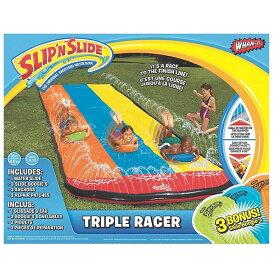 スリップ & スライド プール 家庭用 水遊び 子供 トリプル ウォーター スライダー 夏 水浴び 外遊び 大型 遊具 通常便は送料無料
