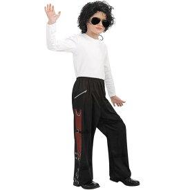 マイケルジャクソン コスプレ 子供 ブラック バッド バックルズボン 衣装 キッズ コスチューム 通常便は送料無料