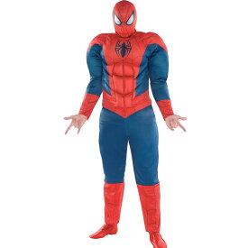 スパイダーマン コスプレ 大人 大きいサイズ マスク ジャンプスーツ クラシック コスチューム 男性 ハロウィン 仮装 衣装 ボディスーツ つなぎ 通常便は送料無料