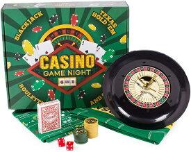 カジノ ゲーム セット 4-in1 テキサスホールデム ブラックジャック クラップス ルーレット