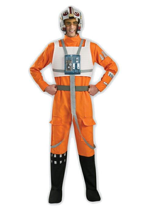 ハロウィン スターウォーズ コスプレ コスチューム Xウィング 戦闘服 パイロット服 オレンジ 大人 男性用 仮装 衣装