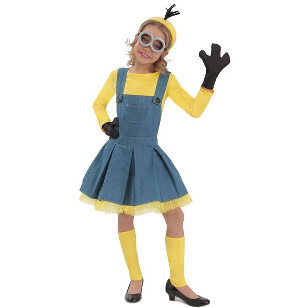 映画 ミニオンズ ジャンパースカート 女の子用 ハロウィン コスプレ コスチューム 衣装 グッズ USJ ユニバ 仮装 パレード