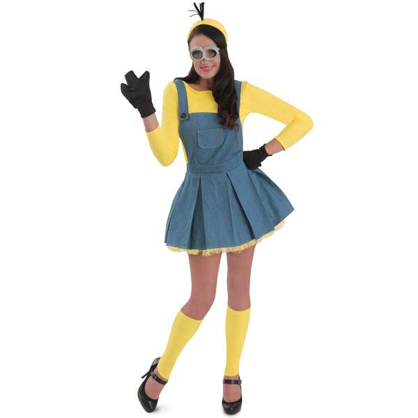 映画 ミニオンズ ジャンパースカート 女性用 ハロウィン コスプレ コスチューム 衣装 グッズ USJ ユニバ 仮装 パレード
