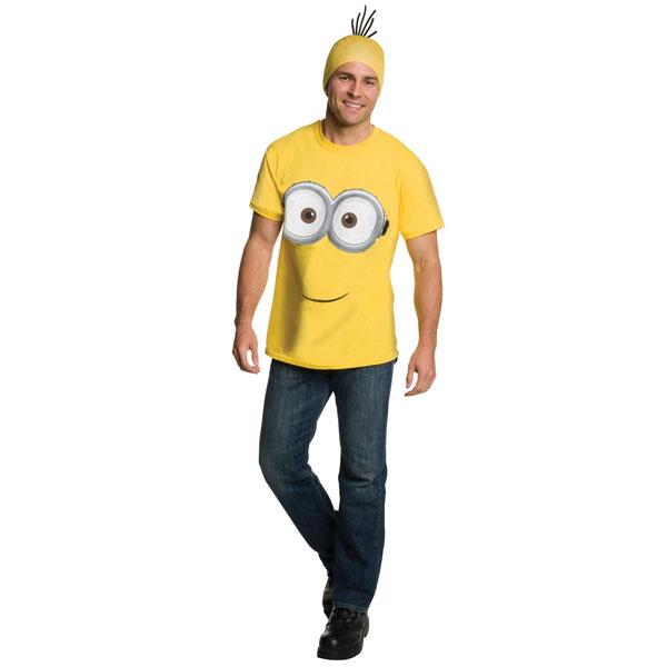 映画 ミニオンズ ミニオン Tシャツ ヘッドピース 大人用 ハロウィン コスプレ コスチューム 衣装