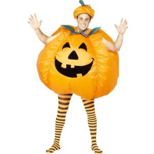 かぼちゃ膨らむコスチュームおもしろ衣装パンプキンハロウィン大人用着ぐるみコスプレ仮装