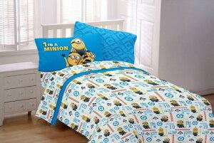 ミニオン グッズ シーツ セット 寝具 ミニオンズ 怪盗グルー 映画 キャラクター ベッド用品 フルサイズ ONE IN A MINION 4点セット