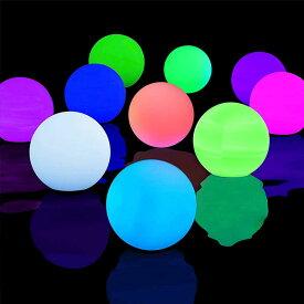 プール ライト 10個セット 16色リモートコントロール LEDボール ライト タイマー付き 防水 ナイト プール パーティー 装飾 イルミネーション 通常便は送料無料