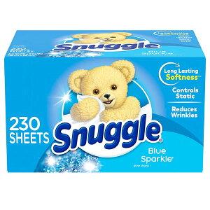 乾燥機 シート 梅雨対策 消臭 芳香 スナッグル ファーファ ブルースパークルの香り 230枚 Snuggle 柔軟剤 車内 海外