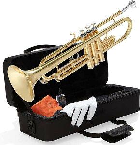 トランペット 初心者セット Bフラットトランペット マウスピース キャリーケース クリーニングキット 吹奏楽 学生 楽器 Mendini Cecilio 通常便は送料無料