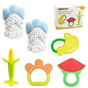 歯固め シリコン 手袋 ミトン 歯固め 可愛い とうもろこし スイカ バナナ フルーツの形 出産祝い ベビー 玩具 用品 通常便は送料無料