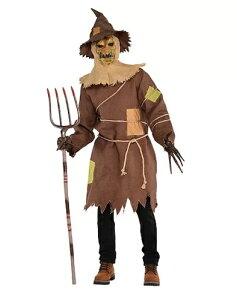 かかし ホラー かぼちゃ コスプレ コスチューム 大人 メンズ ハロウィン 仮装 衣装 案山子