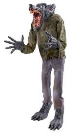 ハロウィン 飾り 213cm 等身大 狼男 Mr.Howle 動く うなる 遠吠え 目が光る アニマトロニクス