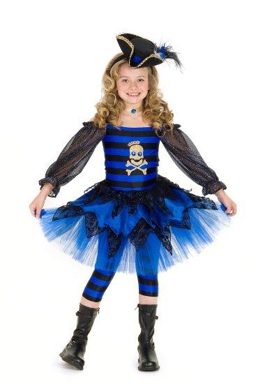 ハロウィン 海賊 子供 コスチューム コスプレ パイレーツ 青い パンクな海賊 女の子 ガールズ 子供用 あす楽