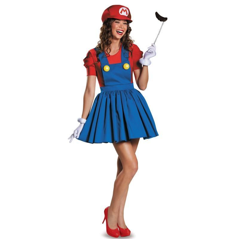 マリオ 大人 女性用 ハロウィン コスチューム スーパーマリオブラザーズ コスプレ パーティー あす楽