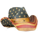 帽子 ハロウィン グッズ アクセサリー ウエスタン カウボーイハット 星条旗柄 大人用