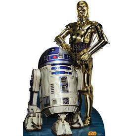スターウォーズ R2D2 C3PO スタンドアップ スタンダップ 等身大 パネル ポスター 装飾 誕生日 パーティー 写真撮影 コスプレ