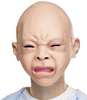 リアル泣く赤ちゃんフルフェイス大人用マスクハロウィンコスプレパーティーラテックス怖い恐怖かわいい不気味ベビー