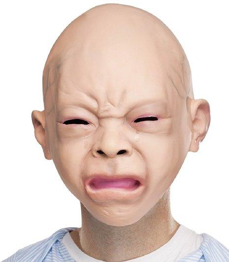 赤ちゃんマスク 大人用 ガキ使 笑ってはいけない ハロウィン 仮装 変装 被り物 リアル赤ちゃん 泣き顔マスク あす楽