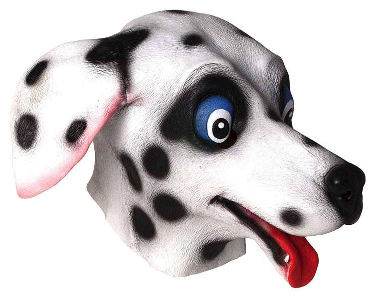 犬 動物 かぶりもの 被り物 マスク ダルメシアン 大人 101匹わんちゃん 仮面 変装 仮装 年賀状 戌年