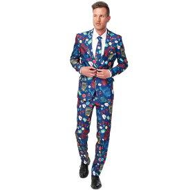 派手 カラフル ギャンブル 男 大人用 カジノ メンズ スーツ お笑い コメディアン 漫才 舞台 衣装 イベント スロットマシン オッポス