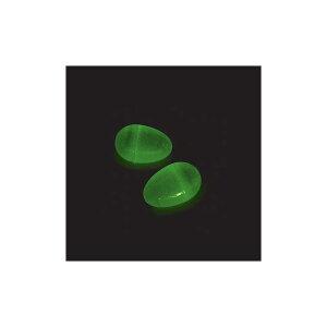 イースターエッグ プラスチック 卵 暗闇で光る ジャンボイースターエッグ 大きめサイズ 約7.6cm 24個入り 2ダース たまごカプセル エッグハント