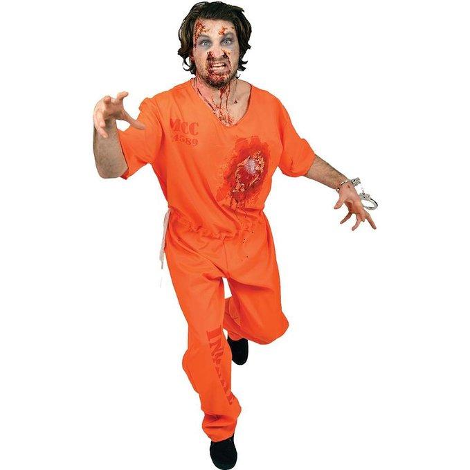 在庫処分市 動く心臓 囚人 大人 男性用 コスチューム ハロウィン コスプレ パーティー ゾンビ 牢獄 刑務所 ケガ あす楽