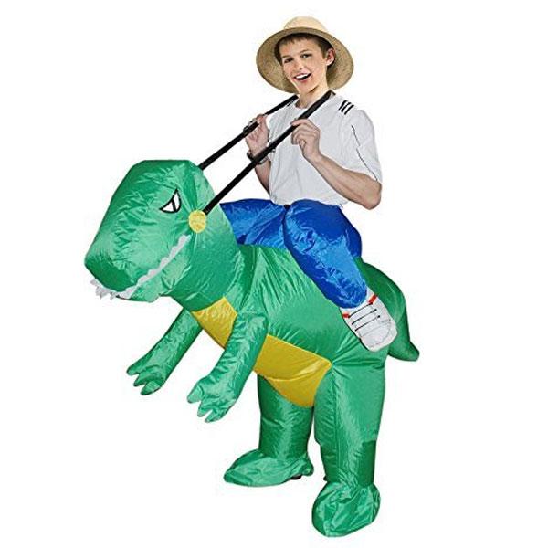 恐竜 T-REX 膨らむ コスチューム 子供 男の子 着ぐるみ おもしろ 衣装 ハロウィン 面白い あす楽
