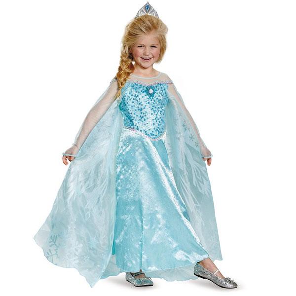エルサ プレステージ 幼児用 ドレス 子供 アナと雪の女王 ハロウィン コスプレ パーティー ブルー