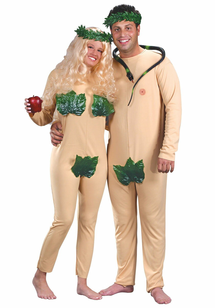 おもしろ コスチューム ハロウィン 仮装 ハロウィン コスプレ ペア カップル用 アダムとイブ コスチューム