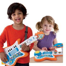 ギター ピアノ ドラム おもちゃ 子供 幼児 楽器 3通りで使えるミュージックトイ 音楽 教育 学習 グッズ