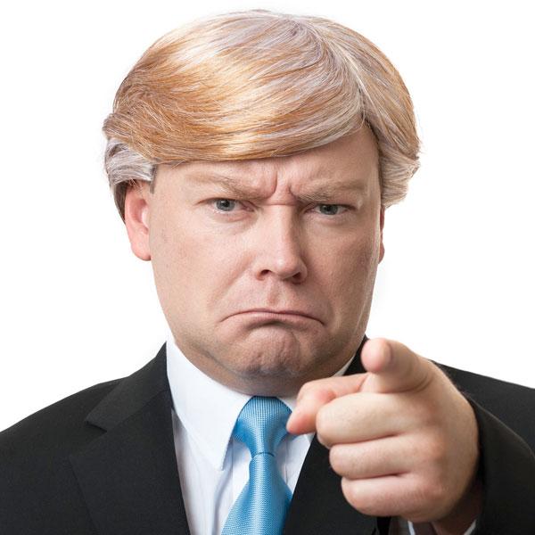 在庫処分市 ドナルドトランプ かつら ウィッグ アメリカ大統領 政治家 コスプレ 仮装 グッズ あす楽