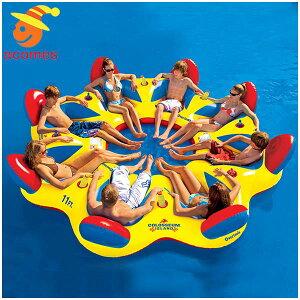 8人用 大型 おもしろい 浮き輪 うきわ 複数 家族 友達 グループ ペア 大きい ボート フロート パーティ グッズ コロッセオアイランド インスタ