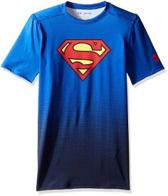 アンダーアーマー オルターエゴ スーパーマン 子供 半袖 Fitted Baselayer Tシャツ ピッタリ ハロウィン ボーイズ キッズ 服
